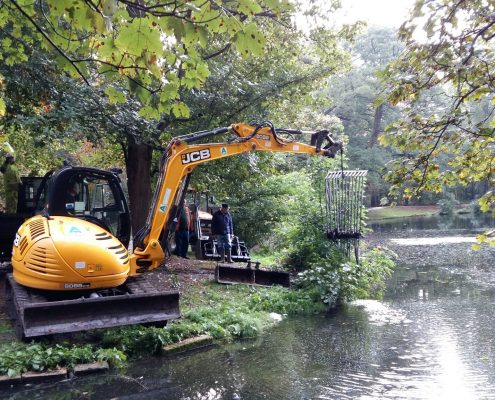 Silt and debris removal - Boultham Park