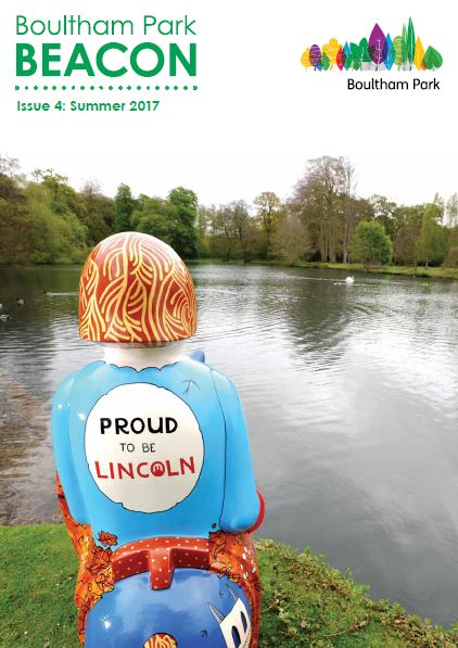 Front page of the Boultham Park Beacon magazine