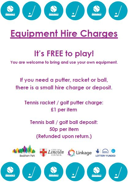 Summer Games Equipment Hire Charges