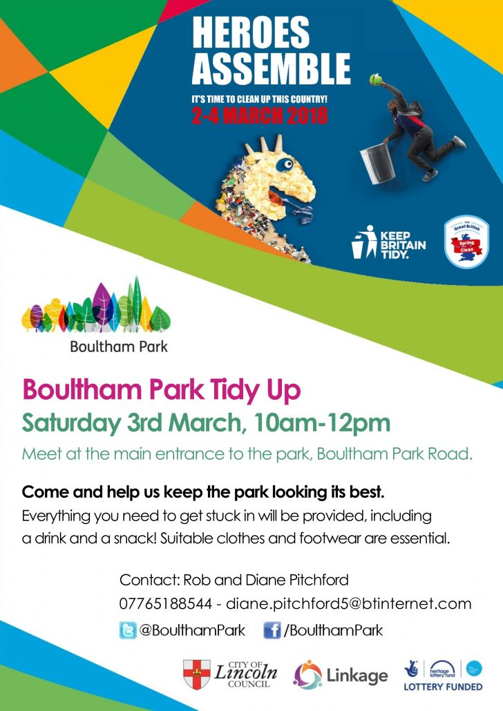Boultham Park Tidy Up Poster